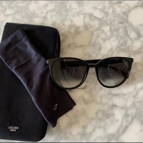 6d4f8e880344d Celine Accessories - Celine black round frame sunglasses CL41068 S